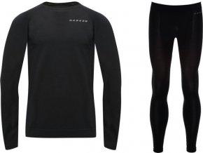 Pánske termoprádlo Wool B/Layer Set Čierne