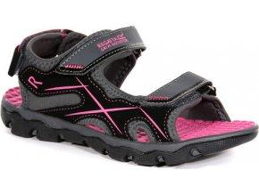 Detské sandále Regatta RKF613 Kota Drift Jnr Sivé
