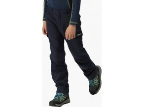 Detské softshellové nohavice Regatta RKJ018 WINTER SSHELL Tmavo modré
