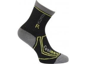 Detské funkčné ponožky RKH034 REGATTA  TrekTrail Čierne