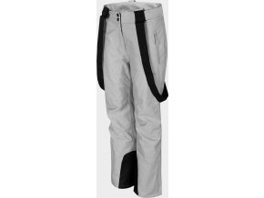 Dámske lyžiarske nohavice 4F SPDN300 Svetlosivé