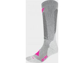 Dámske lyžiarske ponožky 4F SODN202 Sivá