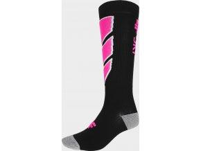 Dámske lyžiarske ponožky 4F SODN300 Čierne