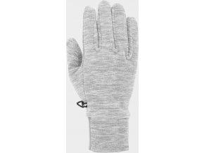 Fleecové rukavice 4F REU301 Světle šedé