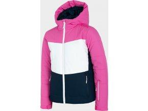 Dievčenská lyžiarska bunda 4F JKUDN401 Ružová