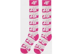 Dívčí lyžařské ponožky 4F JSODN403 Růžové