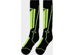 Chlapčenské lyžiarske ponožky 4F JSOMN400 Zelené
