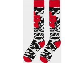 Chlapčenské lyžiarske ponožky 4F JSOMN402 Červené