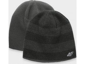 Pánska obojstranná čiapka 4F CAM005 Tmavo sivá