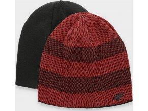 Pánska obojstranná čiapka 4F CAM005 Červená