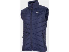 Pánská péřová vesta 4F KUMP001 Modrá