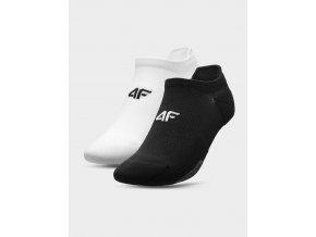 Dámské běžecké ponožky 4F SOD210 Bílé Černé (2páry)