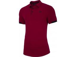 Pánské polo tričko 4F TSM303 Tmavě červené