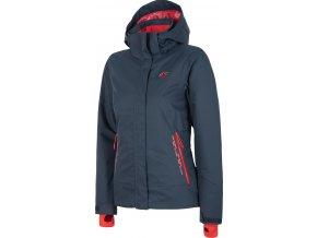 Dámska lyžiarska bunda 4F KUDN007 Tmavo modrá