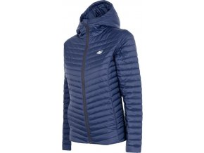Dámská prošívaná zimní bunda 4F KUDP004 Tmavě modrá