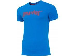Pánské bavlněné tričko 4F TSM003 Modré