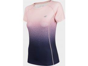 Dámské funkční tričko 4F TSDF002A Modré/Růžové
