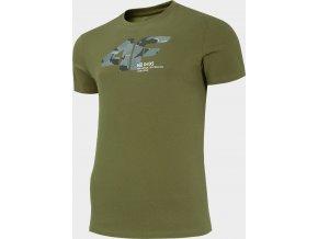 Bavlněné tričko 4F TSM214 Khaki
