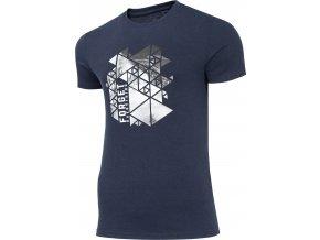 Pánské tričko 4F TSM007 Tmavě modré