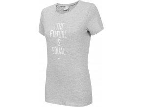 Dámske tričko 4F TSD007 Svetlosivé