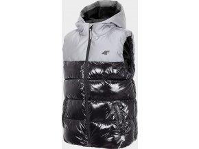 Dětská prošívaná  vesta 4F JKUMB200  Černá