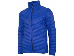 Pánská péřová bunda 4F KUMP301 Modrá