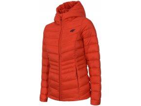Dámska páperová bunda 4F KUDP301 Oranžová