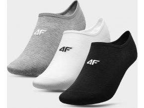 Pánské nízké ponožky 4F SOM300 Šedé_bílé_černé (3páry)