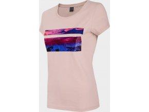Dámské tričko 4F TSD202 Světle růžové