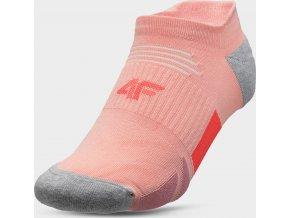 Dámské kotníkové ponožky 4F SOD207 Růžové