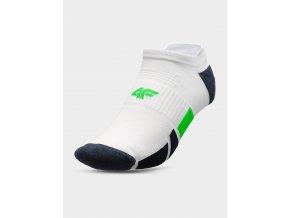 Pánské kotníkové ponožky 4FSOM207 Bílé