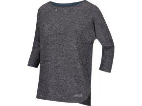 Dámske tričko s 3/4 rukávom REGATTA RWT202 Pulser Čierne