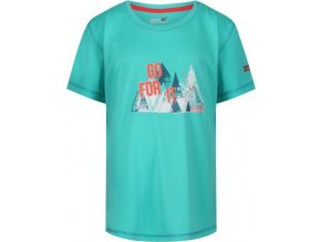 Dětské tričko Regatta RKT096 Alvarado IV Tyrkysová
