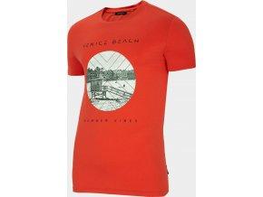 Pánské tričko Outhorn  TSM617 Červené Koral
