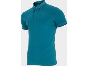 Pánské polo tričko Outhorn TSM633 Zelené mořská