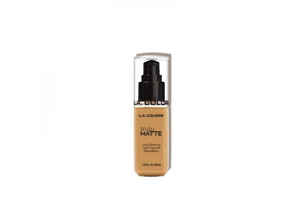 la colors la colors truly matte foundation golden
