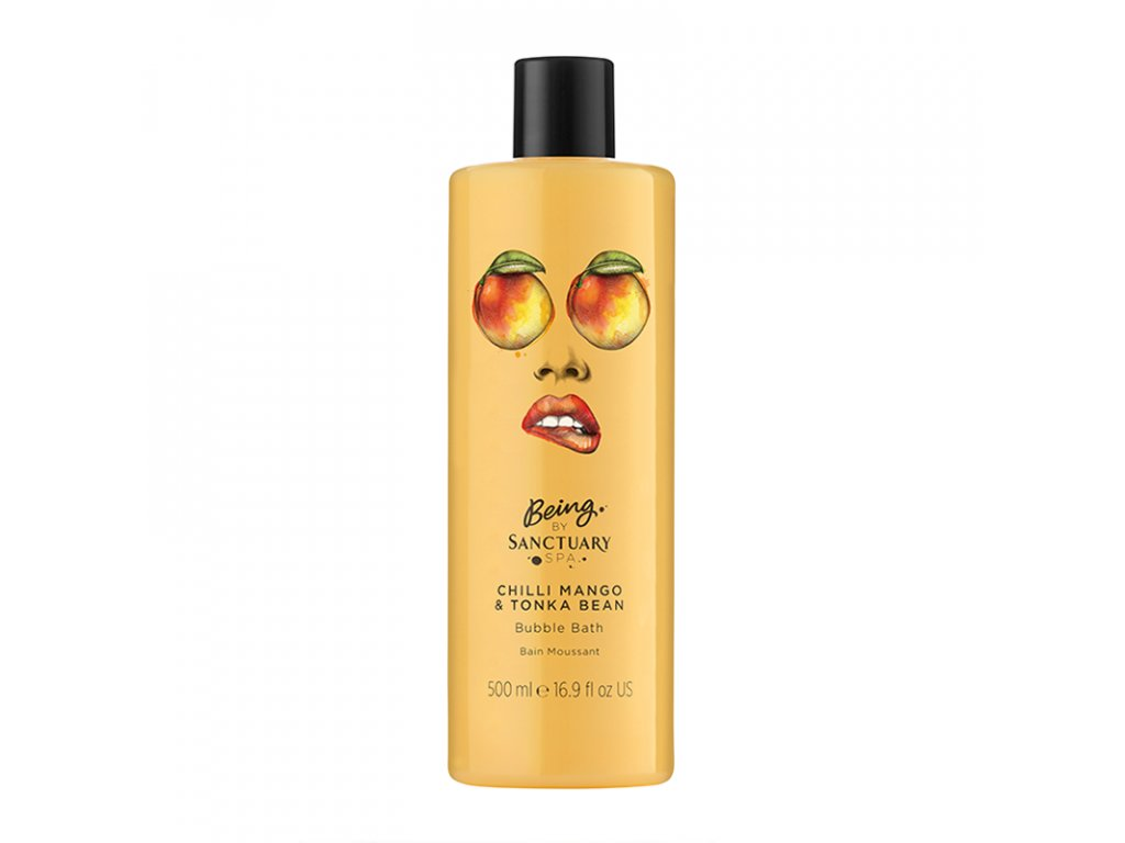 Being By Sanctuary Spa Chilli Mango amp Tonka Bean Bubble Bath 500ml 1508769966
