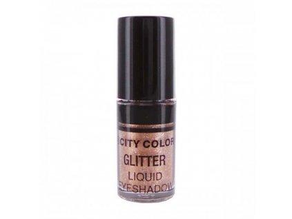 CITY COLOR - Třpytivý tekutý oční stín odstín GOLD