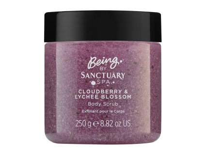 Being By Sanctuary Spa Cloudberry amp Lychee Blossom Body Scrub 250g 1508770232
