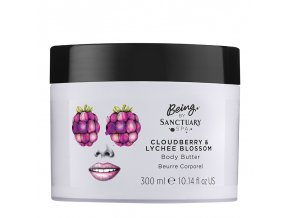 Being By Sanctuary Spa Cloudberry amp Lychee Blossom Body Butter 300ml 1508770114