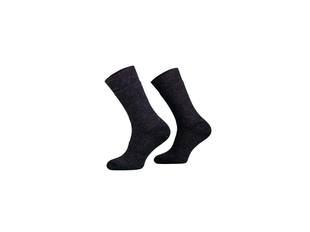 Ponožky COMODO STAN - Merino/Alpaca - zimní treking - tmavá hnědá