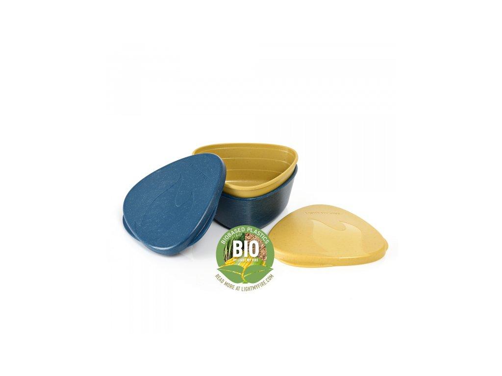 Light My Fire SnapBox O BIO 2-Pack mustyyellow / hazy blue