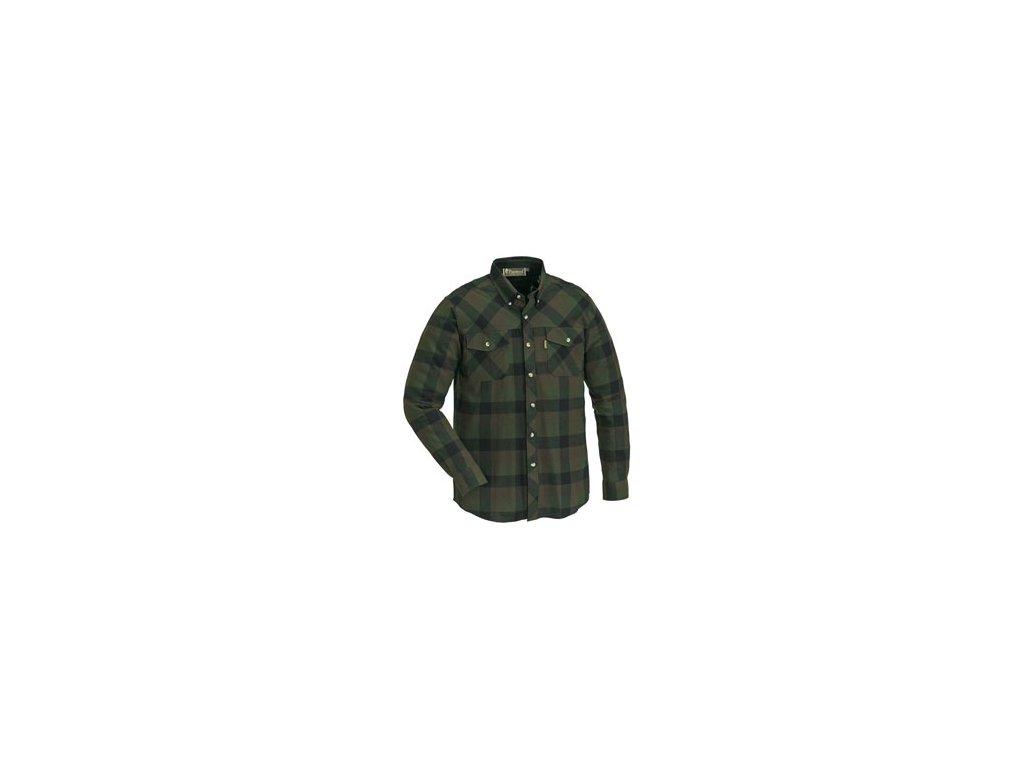 Košile dřevorubecká PINEWOOD Lumbo flannel kostkovaná - ZELENO / ČERNÁ