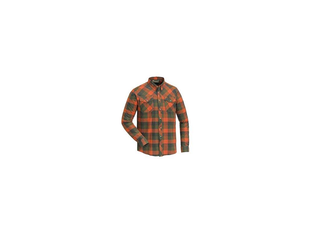 Košile dřevorubecká PINEWOOD Lumbo flannel kostkovaná - ORANŽOVO / ZELENÁ