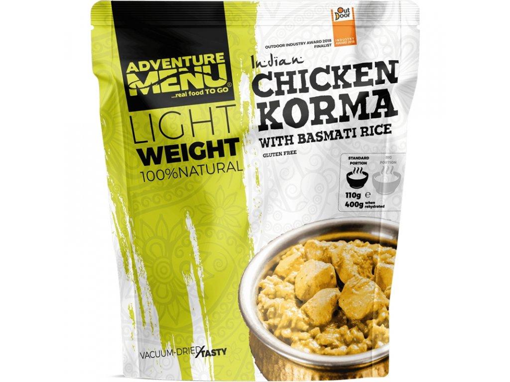LIGHTWEIGHT Adventure Menu - Kuře Korma s rýží basmati