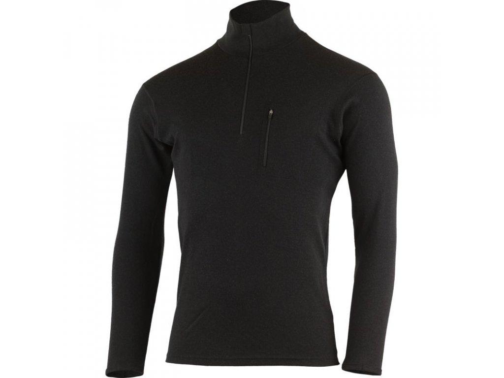 Pánská vlněná Merino mikina BREND 230g - černá