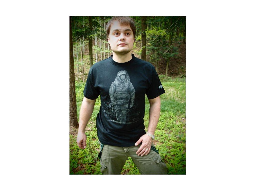 Tričko JUBÖ Bushcraft - černé
