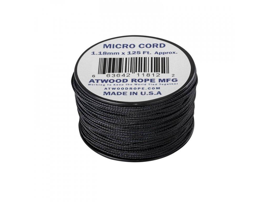 Padáková šňůra Micro Cord ATWOOD ROPE 37,5 m Black