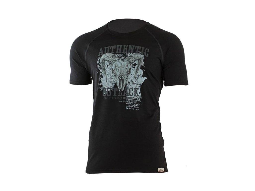 Pánské vlněné Merino tričko HENRY černé 160g