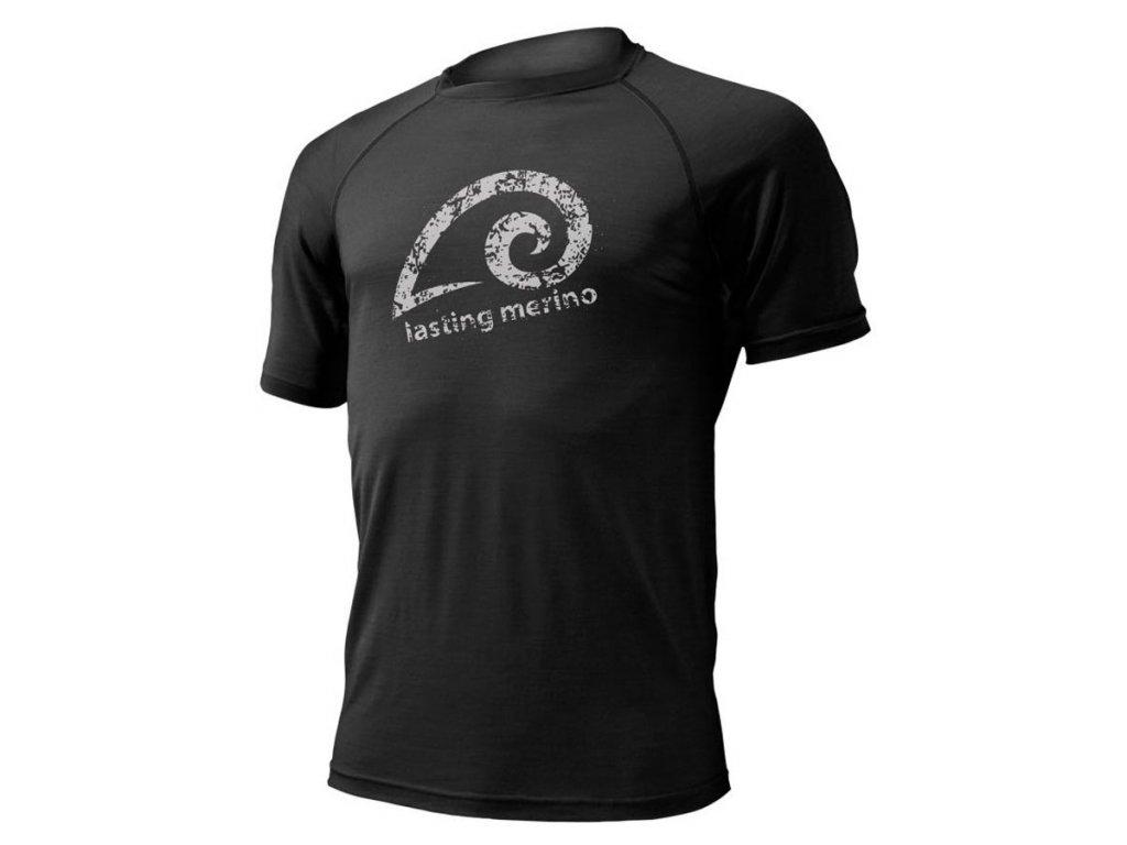Pánské vlněné Merino triko MERIL 160g - černé